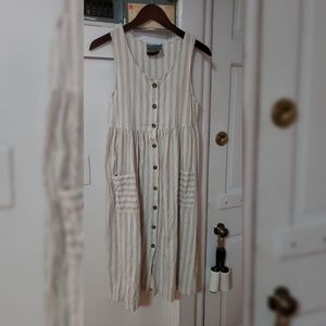 Urban Outfitters Recycled Canvas Striped Dress